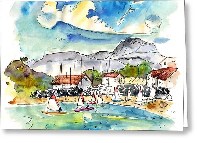 Atlantic Beaches Drawings Greeting Cards - Socoa 02 Greeting Card by Miki De Goodaboom