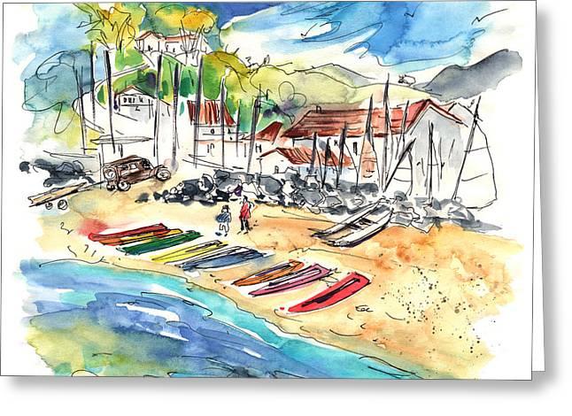 Atlantic Beaches Drawings Greeting Cards - Socoa 06 Greeting Card by Miki De Goodaboom