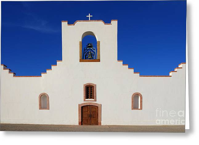 Historical Buildings Greeting Cards - Socorro Mission La Purisima Texas Greeting Card by Bob Christopher