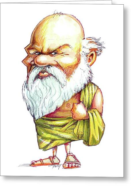 Socrates Greeting Card by Gary Brown