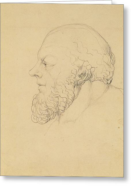 Side View Drawings Greeting Cards - Socrates Greeting Card by William Blake