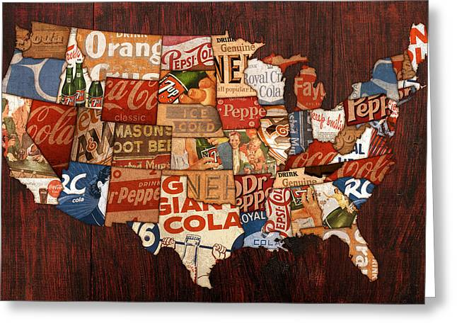 Soda Pop America Greeting Card by Design Turnpike