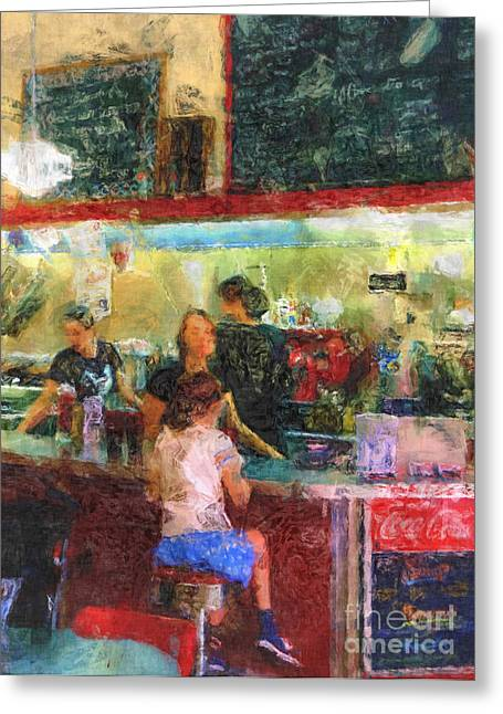 Waitress Greeting Cards - Soda Pop Greeting Card by Jack Gannon