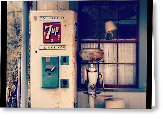 Vending Machine Photographs Greeting Cards - Soda Vending Machine Greeting Card by Jill Battaglia