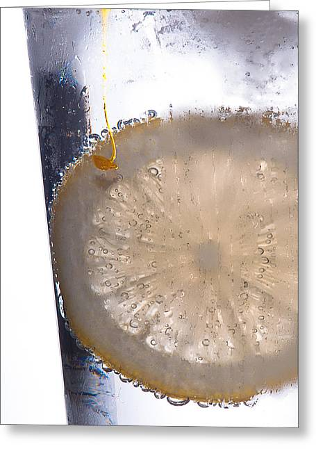 Fizz Greeting Cards - Soda with Lemon Greeting Card by David Pinsent