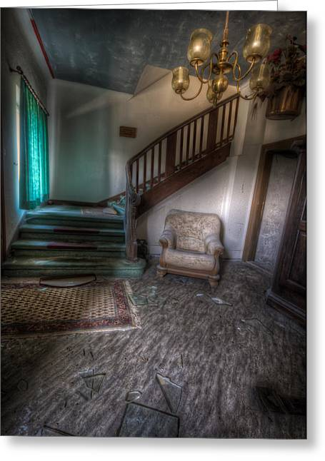 Haunted House Digital Greeting Cards - Sofa at the bottom Greeting Card by Nathan Wright