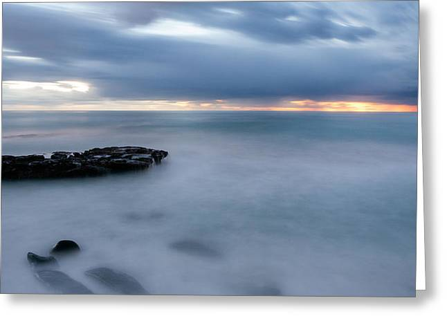 Soft Blue And Wide Greeting Card by Peter Tellone