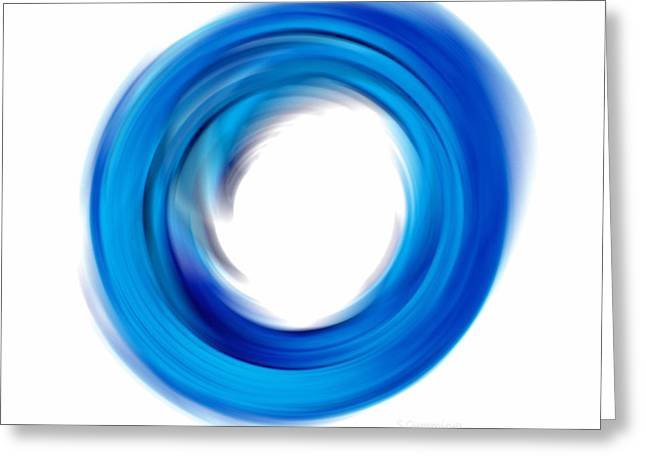 Modern Buddhist Art Greeting Cards - Soft Blue Enso - Abstract Art By Sharon Cummings Greeting Card by Sharon Cummings