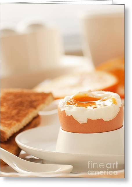 Mythja Greeting Cards - Soft boiled egg Greeting Card by Mythja  Photography