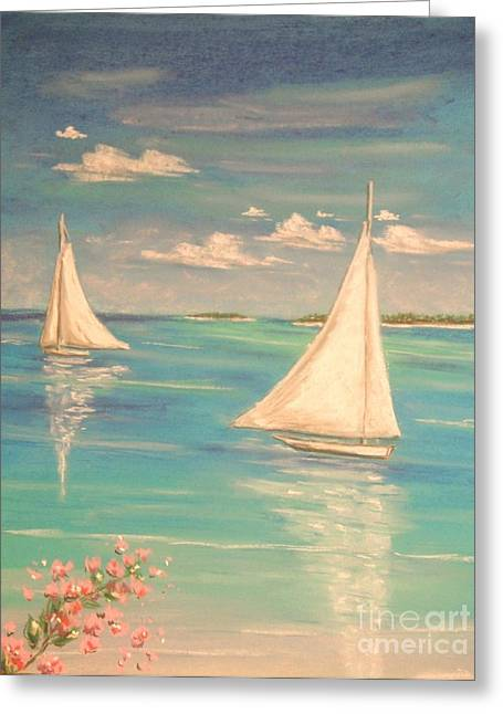 Sailing Pastels Greeting Cards - Soft Breeze Greeting Card by The Beach  Dreamer