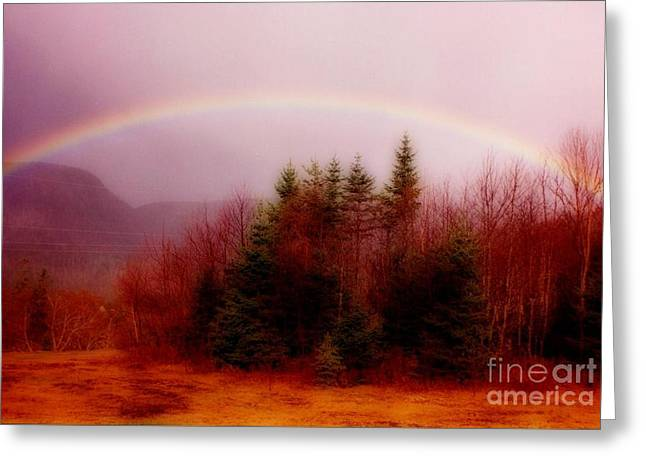Halifax Art Work Greeting Cards - Soft Cape Breton Rainbow Greeting Card by John Malone