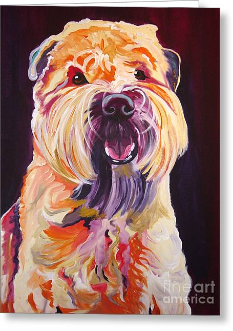 Soft Coated Wheaten Terrier - Bailey Greeting Card by Alicia VanNoy Call