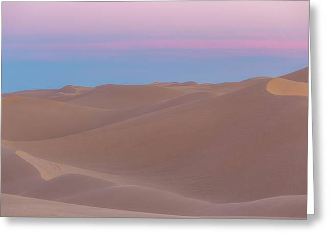 Soft Desert Dunes Greeting Card by Peter Tellone