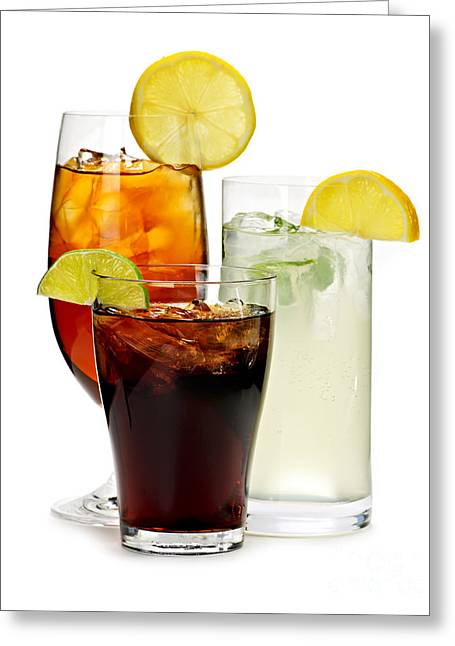 Assorted Photographs Greeting Cards - Soft drinks Greeting Card by Elena Elisseeva