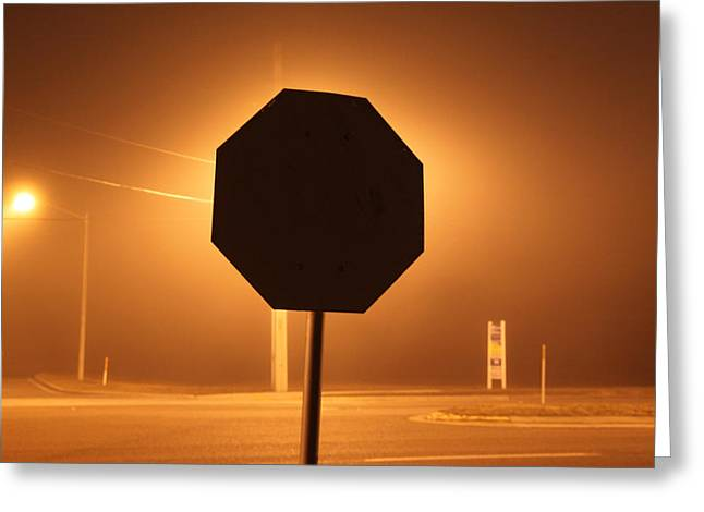 Jacksonville Greeting Cards - Soft Fog At The Stop Sign Greeting Card by Ross Lewis