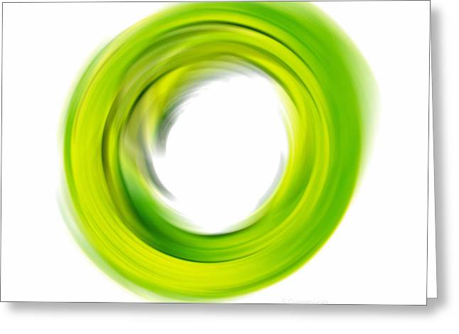 Enso Greeting Cards - Soft Green Enso - Abstract Art By Sharon Cummings Greeting Card by Sharon Cummings