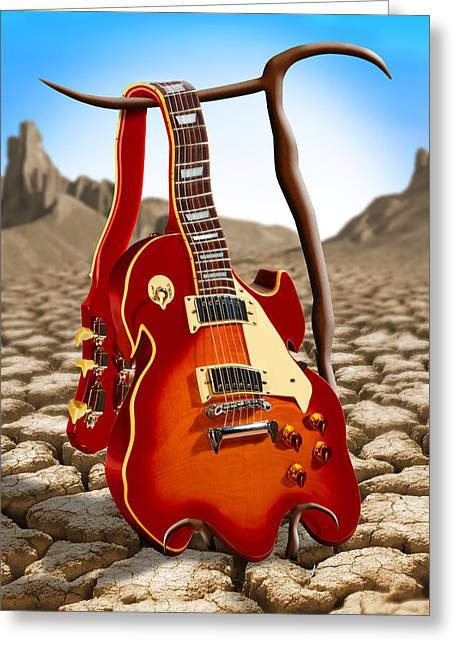 Rock Digital Art Greeting Cards - Soft Guitar Greeting Card by Mike McGlothlen