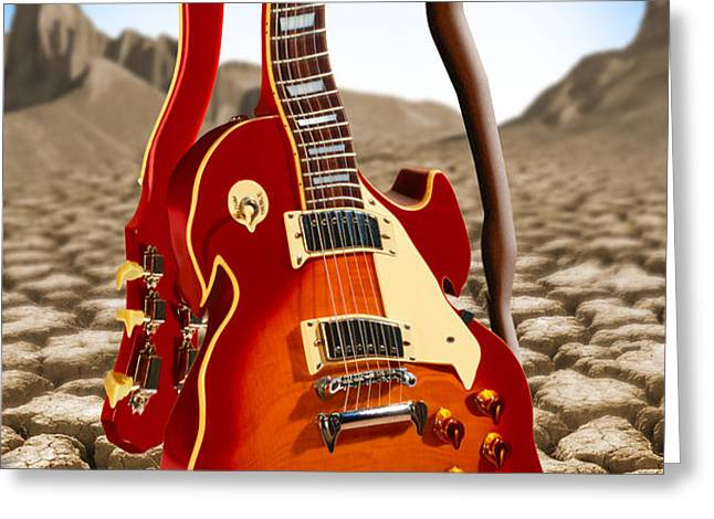 Soft Guitar Greeting Card by Mike McGlothlen