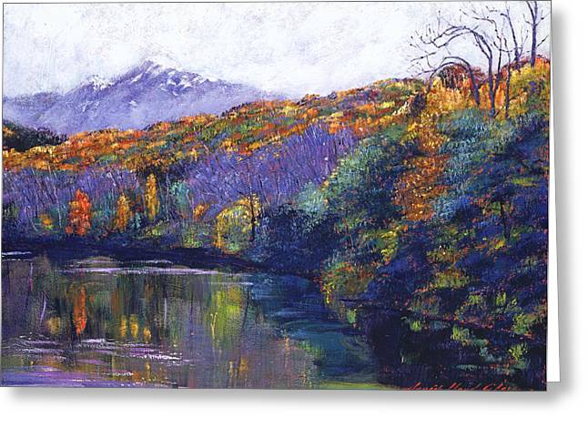 Mist Paintings Greeting Cards - Soft Lake Greeting Card by David Lloyd Glover