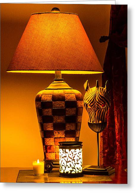Candle Lit Greeting Cards - Soft Lighting Greeting Card by Kathy Liebrum Bailey