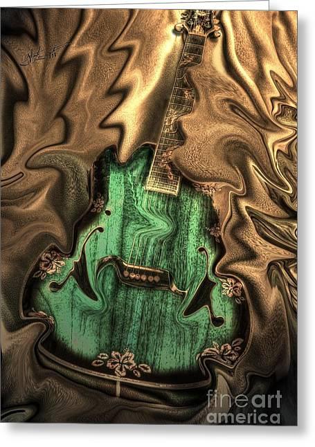 Acoustical Digital Greeting Cards - Soft Music Digital Guitar Art by Steven Langston Greeting Card by Steven Lebron Langston