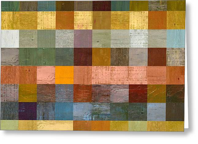 Geometric Style Greeting Cards - Soft Palette Rustic Wood Series lV  Greeting Card by Michelle Calkins