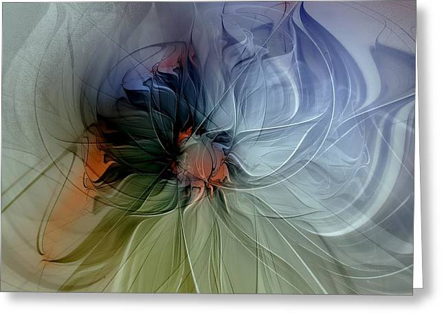 Floral Digital Art Greeting Cards - Soft Pastels Greeting Card by Amanda Moore