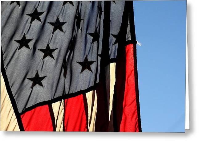 Patriots Framed Prints Greeting Cards - Patriot in the Morning Sun Greeting Card by Ross Lewis