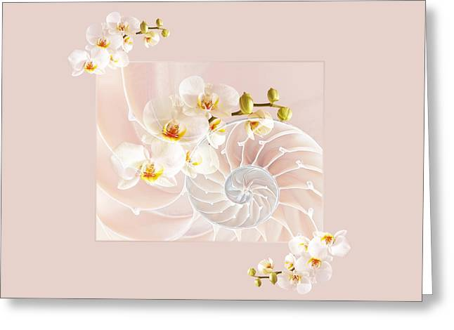 Nature Fusion Greeting Cards - Soft Pink Fusion Greeting Card by Gill Billington