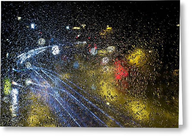 Liquids Greeting Cards - Soft Pitter Patter Of Rain Greeting Card by EXparte SE