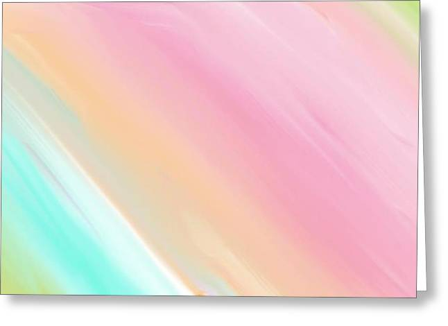 Smoothness Greeting Cards - Soft Rainbows Greeting Card by Constance Carlsen