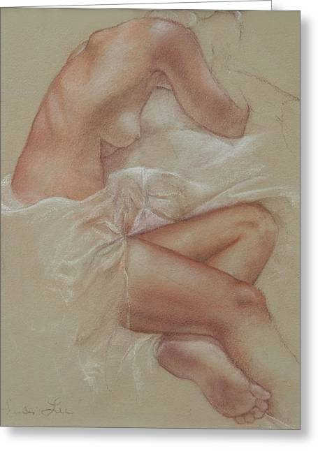 Sepia Chalk Greeting Cards - Soft Repose Greeting Card by Heidi Lee