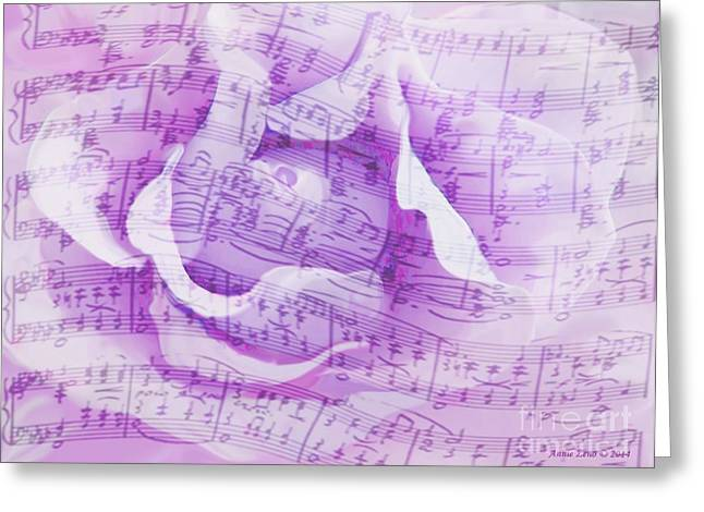 Floral Digital Art Digital Art Greeting Cards - Soft Rose With A Song Greeting Card by Annie Zeno