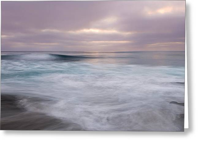 California Coastline Greeting Cards - Soft Sea II Greeting Card by Joseph Smith