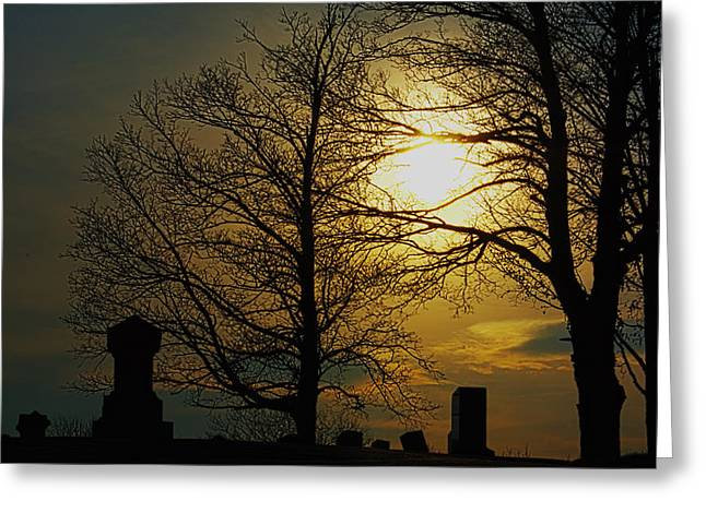 Visual Complement Greeting Cards - Soft Sun Set Greeting Card by Andrew Emery