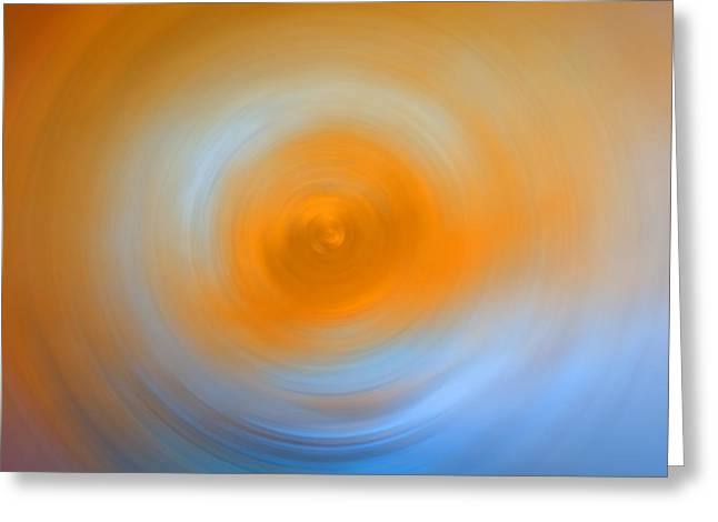 Abstract Movement Greeting Cards - Soft Sunrise - Energy Art By Sharon Cummings Greeting Card by Sharon Cummings