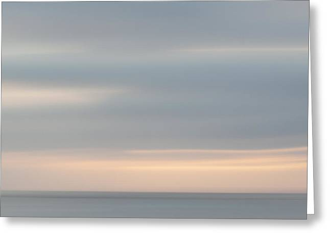 Soft Sunset La Jolla Greeting Card by Carol Leigh