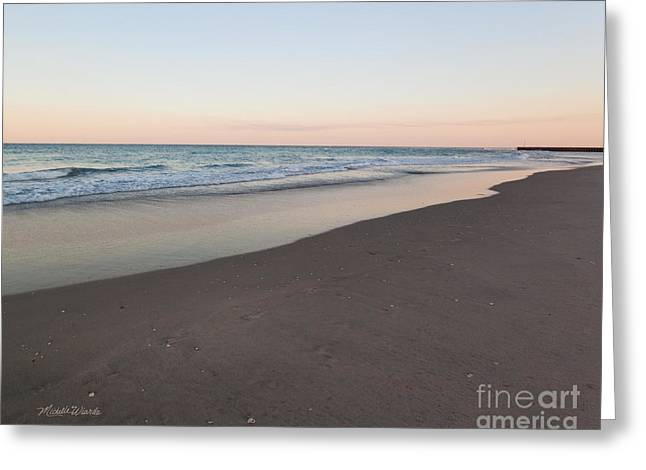 Soft Pastel Greeting Cards - Soft Sunset Greeting Card by Michelle Wiarda