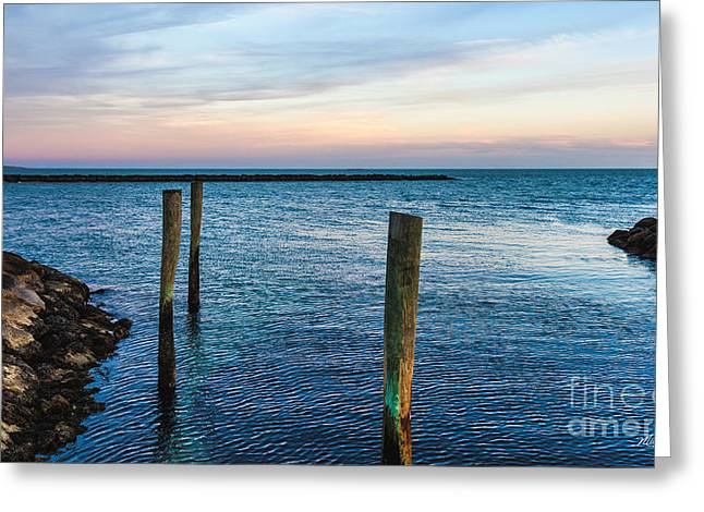 Landscape Greeting Cards - Soft Sunset on Cape Cod Greeting Card by Michelle Wiarda