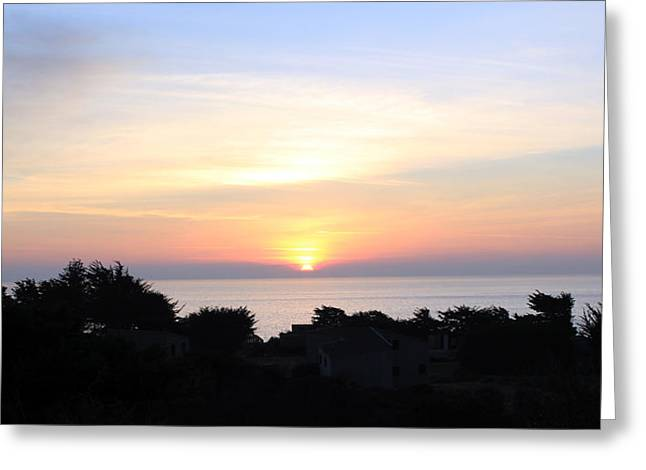 Sunset Greeting Cards Greeting Cards - Soft Sunset Shared T S R Greeting Card by Ron McMath