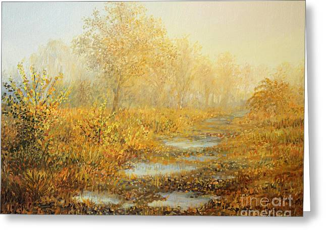 Puddle Greeting Cards - Soft Warmth Greeting Card by Kiril Stanchev