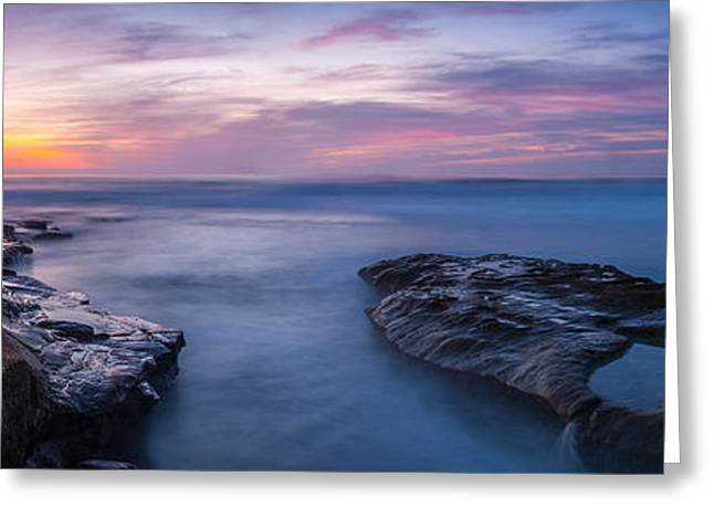 Ocean Panorama Photographs Greeting Cards - Soft Waters Greeting Card by Peter Tellone