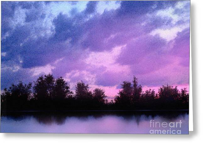 Storm Prints Digital Greeting Cards - Soft Waters Greeting Card by Robert Foster