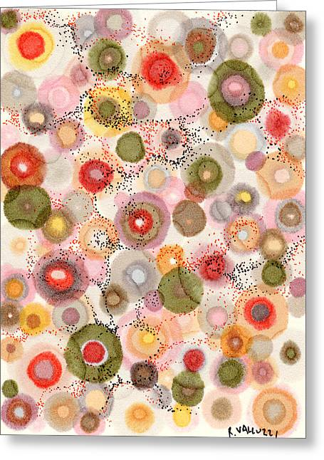 Bubbly Drawings Greeting Cards - Softly bubbling Greeting Card by Regina Valluzzi
