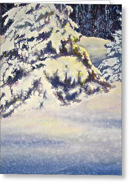 Sun Rays Paintings Greeting Cards - Softly Comes the Morning Greeting Card by Carolyn Rosenberger