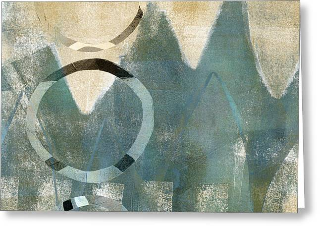 Monoprint Greeting Cards - Softly Faded Greeting Card by Carol Leigh