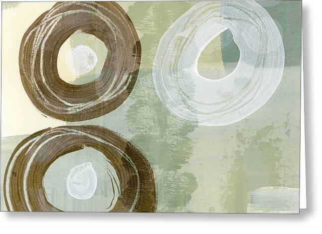 Mute Greeting Cards - Softly Green Greeting Card by Carol Leigh