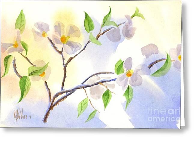 Loose Greeting Cards - Softly Missouri Dogwood II Greeting Card by Kip DeVore