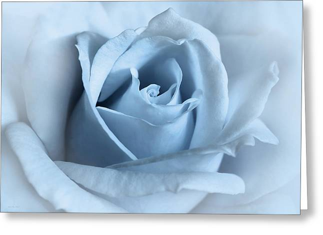 Softness Of A Blue Rose Flower Greeting Card by Jennie Marie Schell