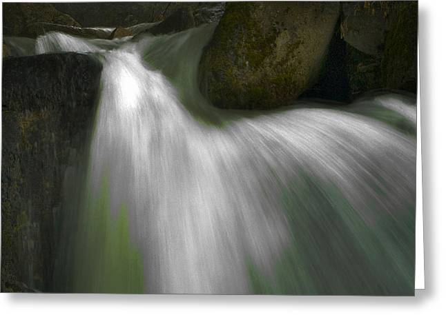 Softwater Of Cascade Creek Greeting Card by Bill Gallagher